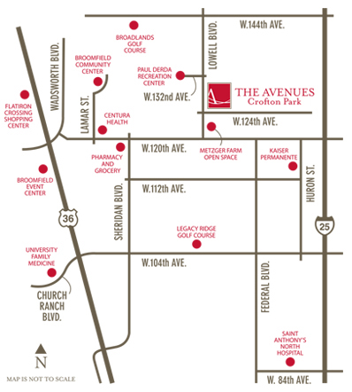 Senior Apartments in Broomfield, CO - Neighborhood Map